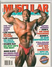 MUSCULAR DEVELOPMENT muscle magazine/LEE HANEY/Sandy Ridell w/ poster 2-91