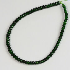 2.4mm-3.3mm Gem Chrome Green Tourmaline Smooth Rondelle Beads 6 inch strand