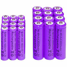 12 AA 3000mAh + 12 AAA 1800mAh Ni-Mh Rechargeable Battery Cell for MP3 RC Toy