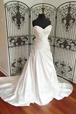 13) AARIANA M339A SZ 14 IVORY  STRAPLESS ROMANTIC  $1148 WEDDING GOWN DRESS