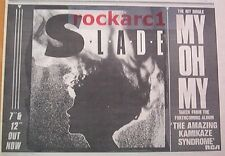 SLADE My Oh My 1983 UK Press ADVERT 12x8 inches