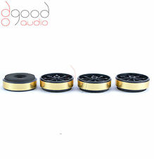 4 x Gold Plastic / Foam Feet for Hi-Fi Audio Component / Isolation / Spikes