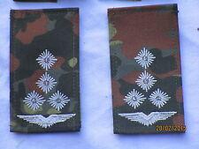 Bundeswehr shoulder marks:Staff captain,Air force, white/flecktarn, HOOK & LOOP