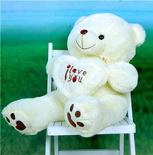 100% Cotton Stuffed Beige 50cm Plush Teddy Bear Soft Gift For Valentine Day