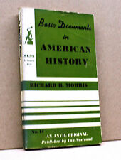 BASIC DOCUMENTS IN AMERICAN HISTORY - R.B.Morris [1956]