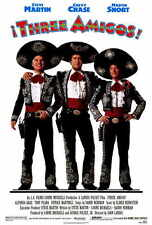 THE THREE AMIGOS Movie POSTER PRINT 27x40 Chevy Chase Steve Martin Martin Short