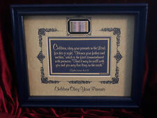"New!Bible Scripture Plaque""CHILDREN OBEY YOUR PARENTS IN THE LORD""Christian GIFT"