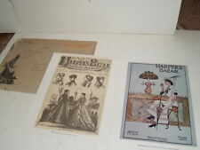 Harpers Bazar Bazzar Repro Cover of First Issue 1867 & First 4 color issue 1912