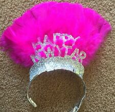 Feather Magenta Hot Pink Happy New Years Eve Tierra Hat Holiday Party