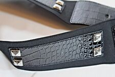 "WHITE HOUSE BLACK MARKET S BLACK Patent Leather  2.5"" WIDE ELASTIC Stretch BELT"