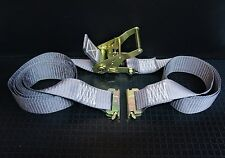 12 16' E Track Ratchet Tie Down Straps Box Truck Trailer Moving Van Cargo Strap