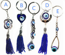 5 of  Blue Hamsa Evil Eye key chain ring amulet hanging ornament for protection
