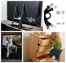 2X Anti-Tip TV Strap Child Kids Proof Safety Furniture Flat Screen TV Wall Strap