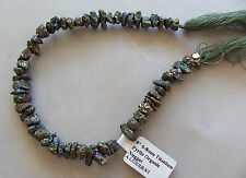 "8"" Strand Titanium Pyrite Gemstone Small Rough Nugget Beads 6mm-9mm"