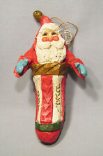 House of Hatten 1992 Santa in Stocking Christmas Ornament with Original Tag