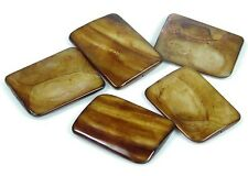 35mm Bronze Mother of Pearl Rectangle Pendant Beads (5)