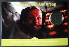 Rare Apollo 11 NASA Astronaut Neil Armstrong Hair Card Signed COA Photo 2of 3