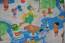- SESAME STREET vintage Day Camp FITTED BED SHEET 1970s Muppets -
