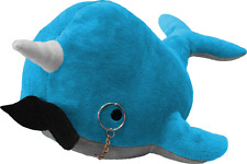 Kimler Cute Fancy Narwhal Plush with Mustache and Monocle. Over a Foot Long Stuf