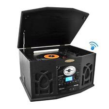 NEW Pyle PTCDS7UBT Bluetooth Classic Turntable AM/FM CD Player Built-in Speakers