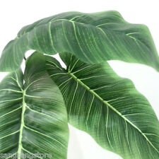 12pc artificial silk tropical leaves large luau Hawaii greenery bird of paradise