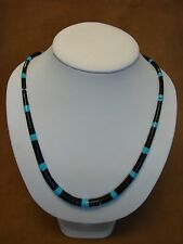 Santo Domingo Indian Hand Strung Turquoise Heishi Necklace Delbert Crespin