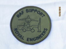 RAF Support,Royal Engineers, TRF, farbig, Patch,Royal Air Force,Luftwaffe