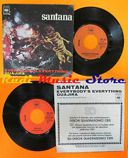 LP 45 7''CARLOS SANTANA Everybody's everything Guajira 1971 italy CBS cd mc dvd