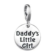 DADDY'S LITTLE GIRL SILVER PENDANT CHARM NECKLACE BRACELET FATHER DAUGHTER #KC48