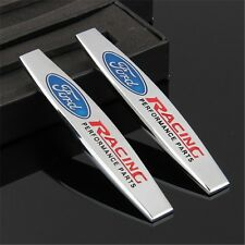 2 x  3D Trunk Rear Emblem Badge Decal Logo Car Auto for FORD RACING