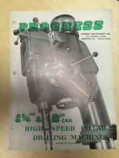 Progress Drilling Machine Brochure ~ 4E 5E High Speed Pillar ~ Tool Catalog