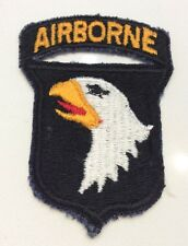 WWII Era US ARMY 101ST AIRBORNE DIVISION CUT EDGE PATCH ATTACHED TAB