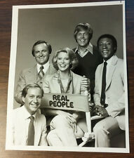 1979-83 REAL PEOPLE TV SHOW  9 X17     THE CAST  SARAH PURCELL, JOHN BARBOUR