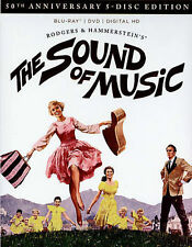 The Sound of Music Blu-ray/DVD 5-Disc Set 2015 50th Annv Liesl Julie Andrews NEW