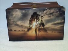 615Sunset Funeral Memorial Cremation Urn with Free Engraved Plate