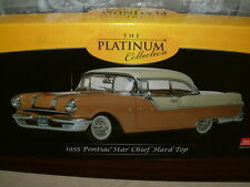 1/18 SCALE SUNSTAR 1955 PONTIAC STAR CHIEF IN GRAY /TAN, SUBERB