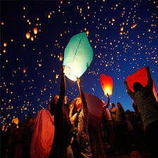 10pcs/set Chinese Sky Flying Lanterns Khoom Fay Kong Ming Lantern (ECO Friendly)