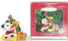 Disney Mickey Mouse Pluto Hallmark Ornament 1998 Reindeer Vintage Retired MIB