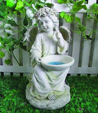 Gardenwize Solar Led Light Angel Memorial Grave Stone Ornament Garden Birdbath