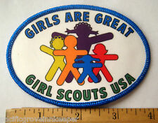 Girl Scout 1990 GSUSA GIRLS ARE GREAT PATCH Growing Up Female Focus Badge