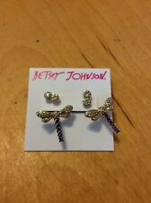 $30 Betsey Johnson Spring Ahead Dragonfly Earrings BJ 959