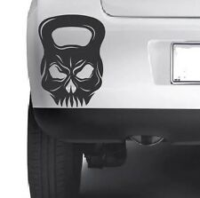 KETTLE BELL SKULL WORKOUT Car Bumper Van Window Wall Laptop VINYL DECAL STICKER
