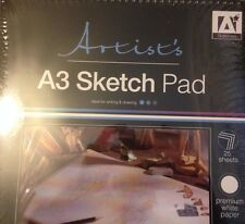 A3 Artists Sketch Pad Book 25 sheets 70gsm Wire Bound - Writing and sketching