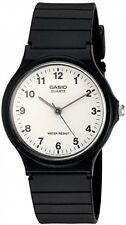 Casio Men's MQ24/7B Quartz Watch with White Dial Analogue Display and Black