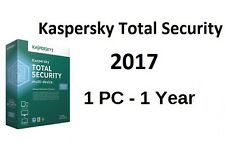 KASPERSKY TOTAL SECURITY 2017 1PC/1YEAR | DOWNLOAD |0