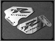 HEEL PLATES for SUZUKI TL1000R, TL 1000 R, TLR (POLISHED REARSET FOOTPEG GUARDS)
