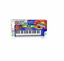 Blue Kids Electronic Toy Rockstar Keyboard Piano Tune Set With Microphone Boxed