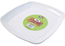 Plastica bianca che serve piatti vassoi usa e getta Party piatto 40cm Piastra Quadrata