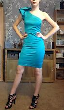 Lipsy One Shoulder Turquoise Dress,UK6.Mint