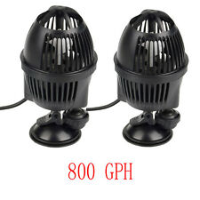 2 PCS Circulation Pump Wave Maker 800 GPH Aquarium Powerhead Suction Cup Mount